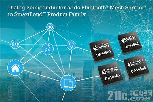 Dialog公司为SmartBond 产品系列添加蓝牙Mesh支持