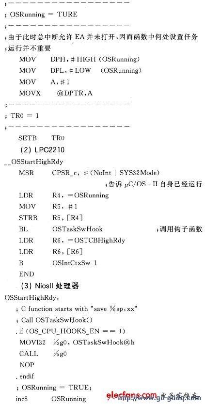 μC/OS-II在几种处理器上的移植介绍