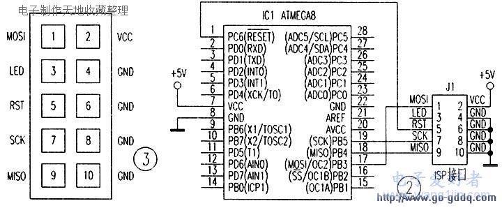 自制AVR单片机ISP下载线电路解析