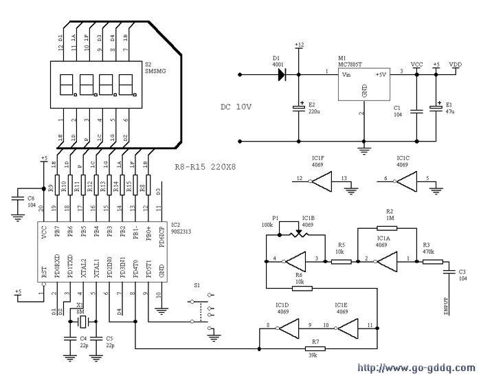 AVR数字显示频率表和转速表