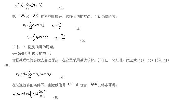 容栅传感器的测量原理及其结构