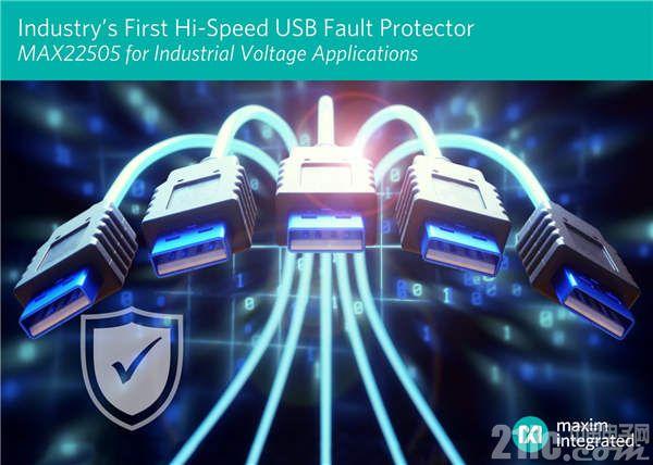 Maxim面向高速USB端口和工业应用发布行业首款故障保护方案