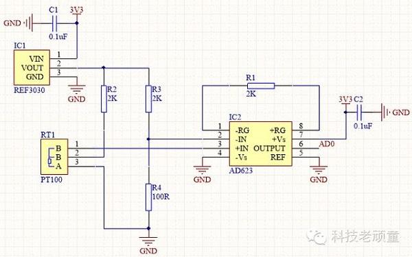 写给电子小白:高精度的PT100测温电路分享