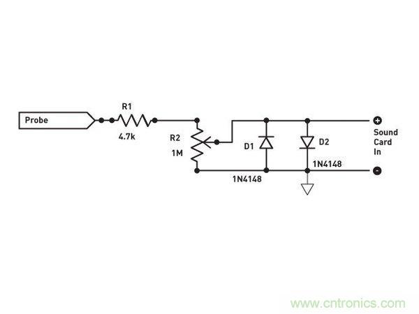 利用软件和简单电路就能把电脑音效卡变成示波器