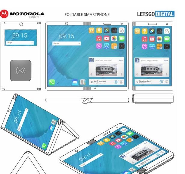 老树开新芽?摩托罗拉新专利:可变身平板的折叠手机