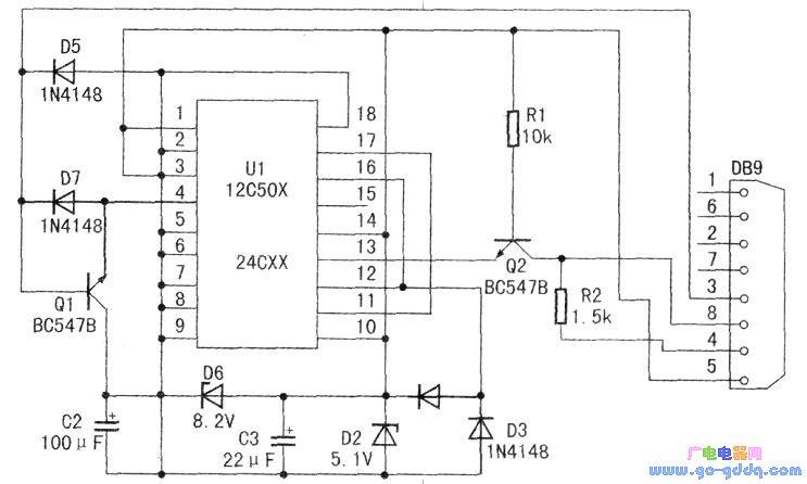 PIC12C5××单片机的编程器