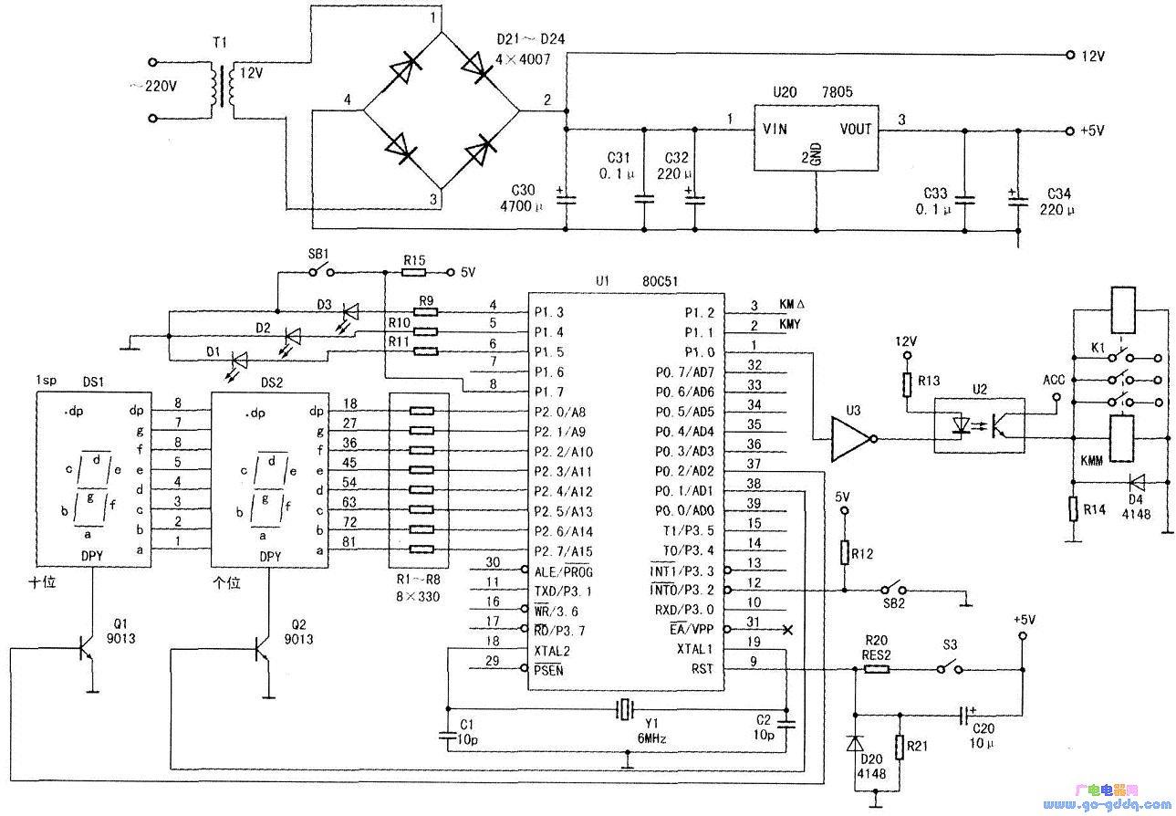 利用51单片机启动三相星形电机的程序设计
