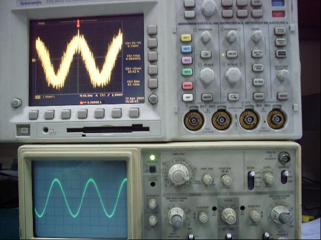 谈示波器第二回――模拟和数字示波器测试性能的具体表现