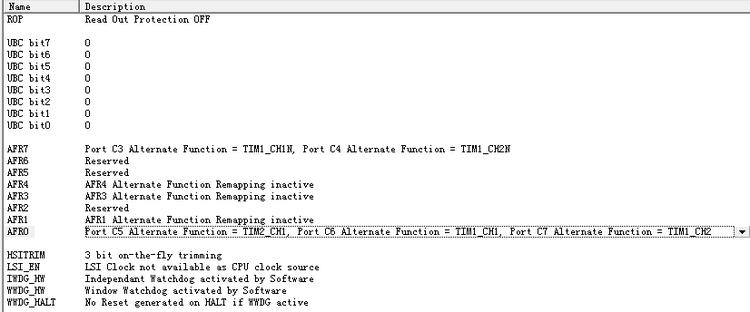 STM8 互补 PWM TIM1定时器 输出成功