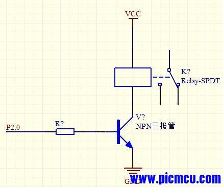 单片机驱动继电器电路设计