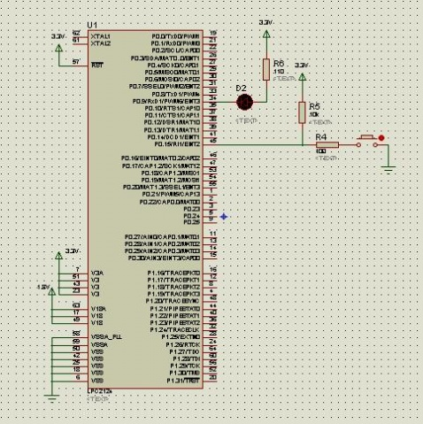 ARM7入门4,单键控制LED
