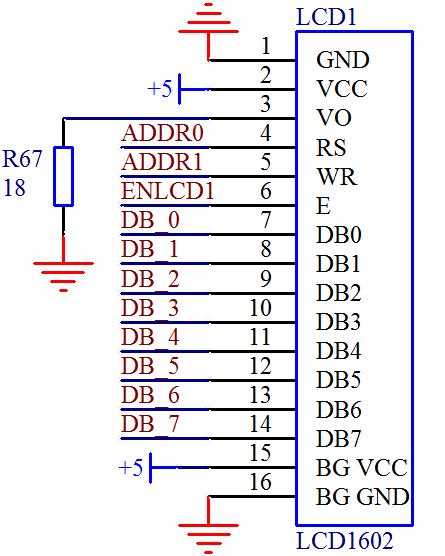 1602液晶介绍(电路和引脚图)