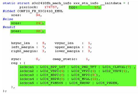 S3C2410 LCD 驱动程序移植及GUI程序编写