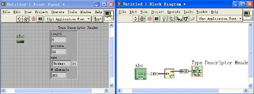 labview的数据类型----type decriptor header