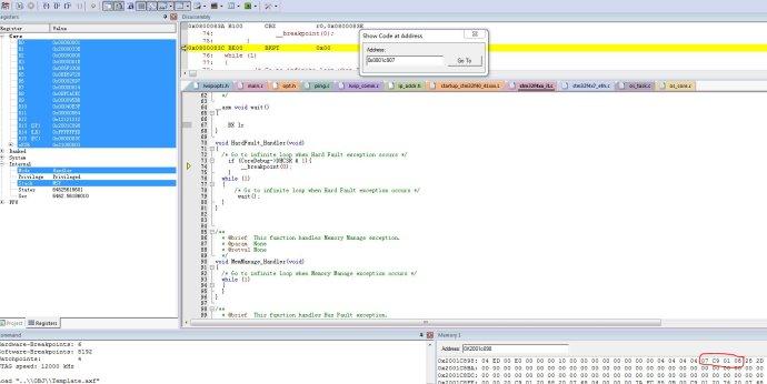 stm32 HardFault_Handler调试及问题查找方法