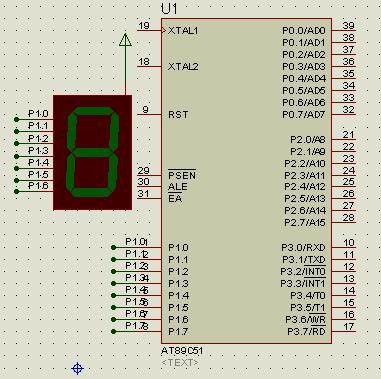 数码管0~9的显示,延时1s(没有通过用计数器的延时)