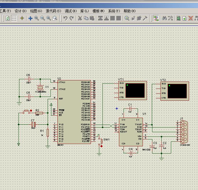 单片机与PC之间串行通信实验 仿真及程序