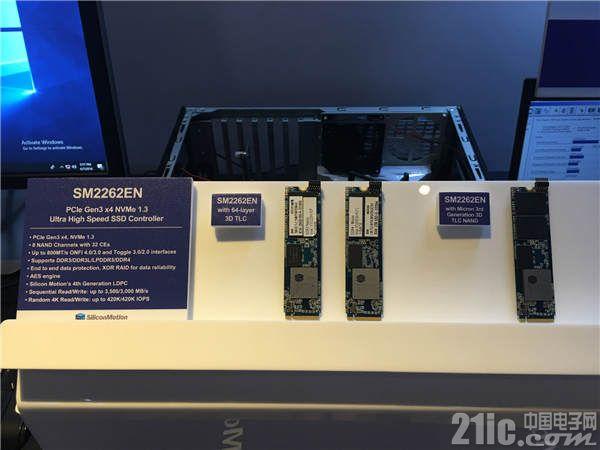 最新SM2262EN展现优越效能,循序读写速度高达3,500 MB/s和3,000 MB/s