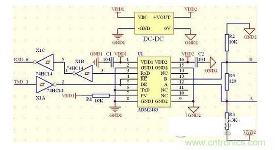 RS485收发连接器电路设计集锦