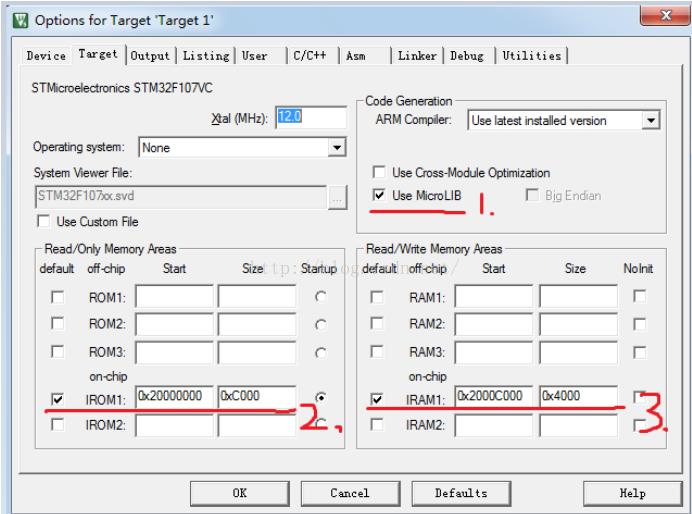 STM32在Keil MDK5环境下RAM上代码调试
