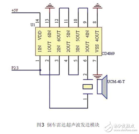 解读MSP430F2274单片机设计的倒车雷达系统电路