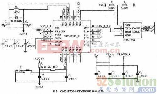 基于C8051F550的CAN总线智能结点的设计方案