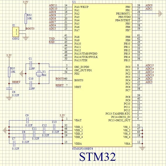 STM32 ADC 多通道16路电压信号采集