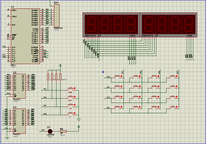 矩阵键盘实验