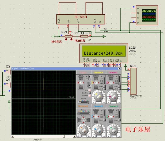 51单片机超声波测距仿真结果分析
