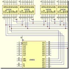 基于AT89S52的单片机的LED点阵显示屏的设计