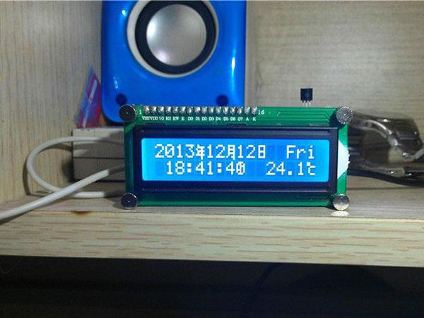 AT89C51单片机1602液晶显示时钟程序