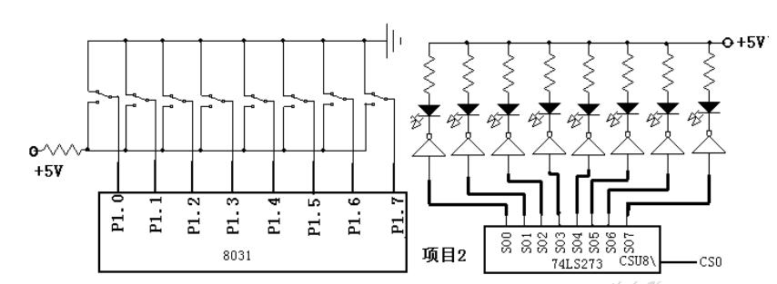 跑马灯/输入输出接口(片选地址74LS273)