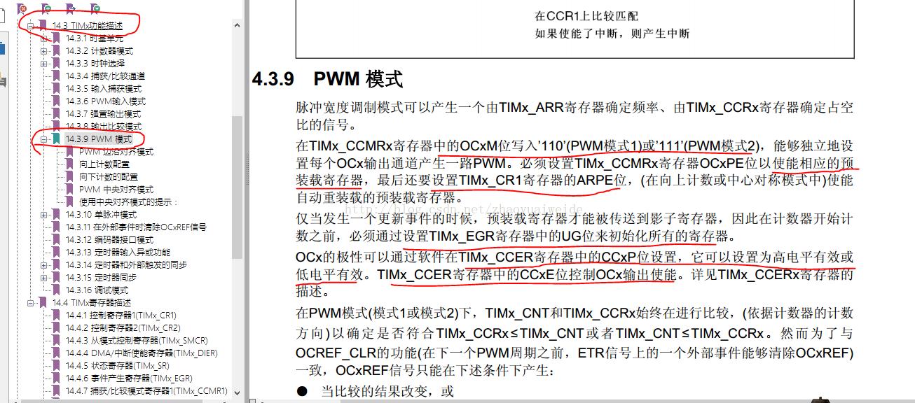stm32f103 pwm模式配置总结