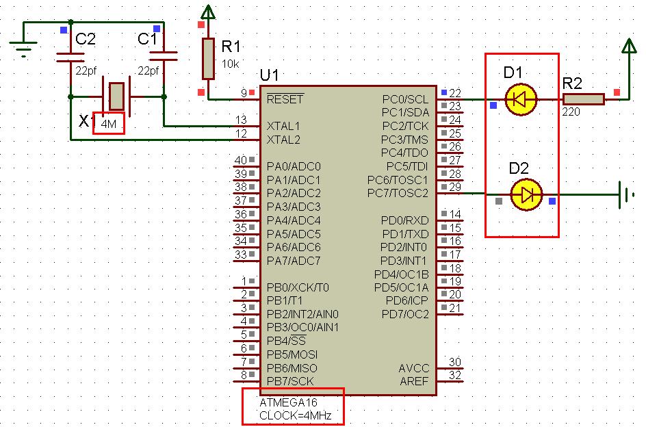 AVR 单片机实现 LED 灯闪烁.