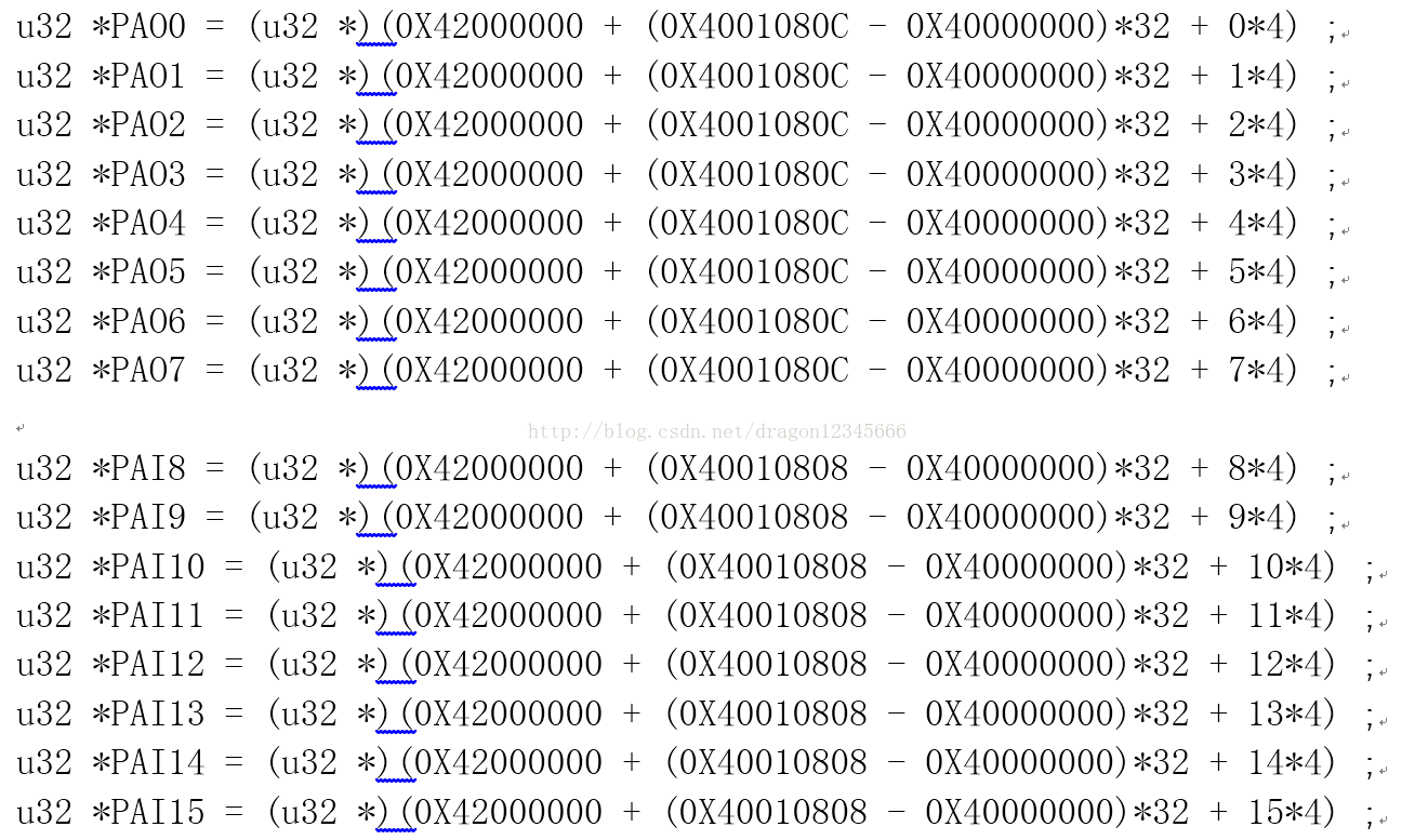 STM32F10x GPIO配置 之 位绑定