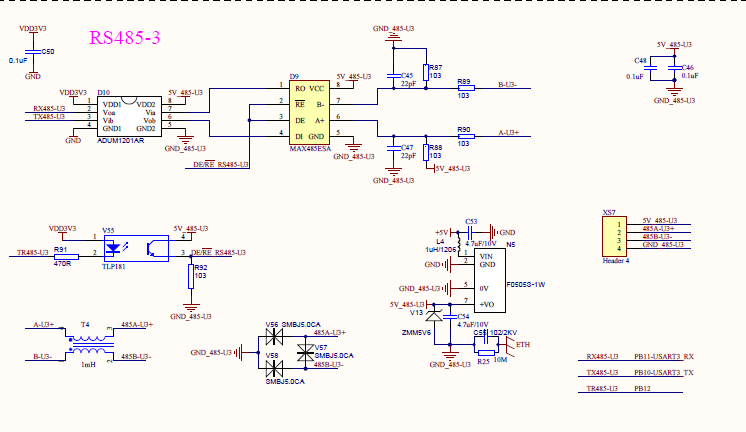 STM32学习笔记:adc采样得到的电压值用485发送给pc