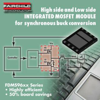 飞兆推出两款高集成度模块产品FDMS9600S/20S