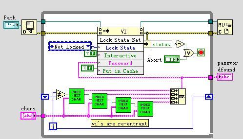 labview编程技巧-----强行破解VI密码的一种方法