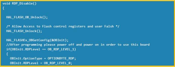 解读STM32单片机:代码实现 PCROP清除