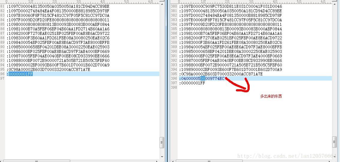 关于IAREWSTM8 HEX文件