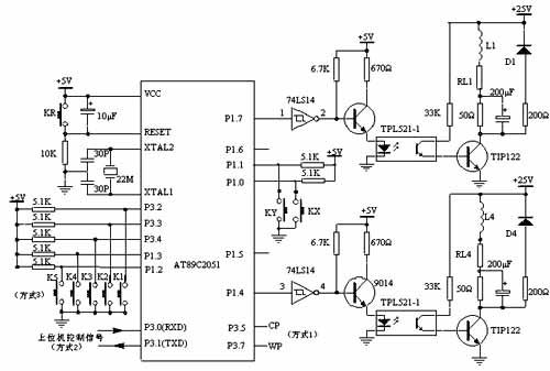 基于AT89C2051的步进电机驱动器系统电路原理