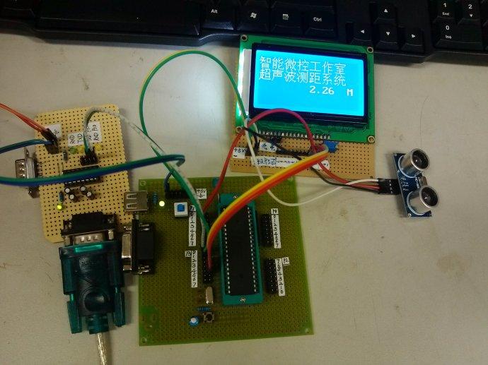 超声波测距51单片机12864液晶显示