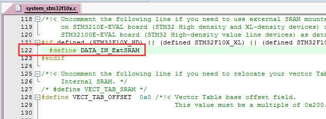 STM32F1_外部SRAM作为运行内存