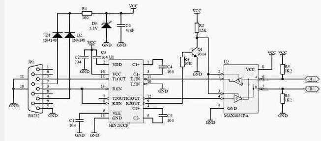 rs485总线接口通讯协议定义标准以及管脚引脚介绍