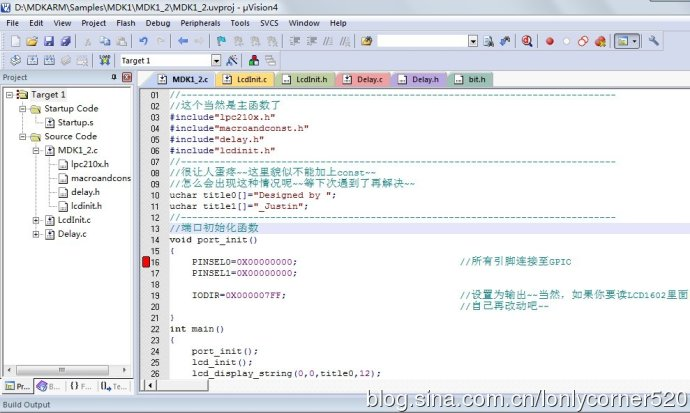 ARM7单片机(学习ing)―(一)、输入/输出端口GPIO编程―02