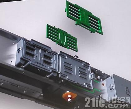 图:I-LINE H高电流母线槽采用专利的栅格自动分区技术,支持空载热插拨