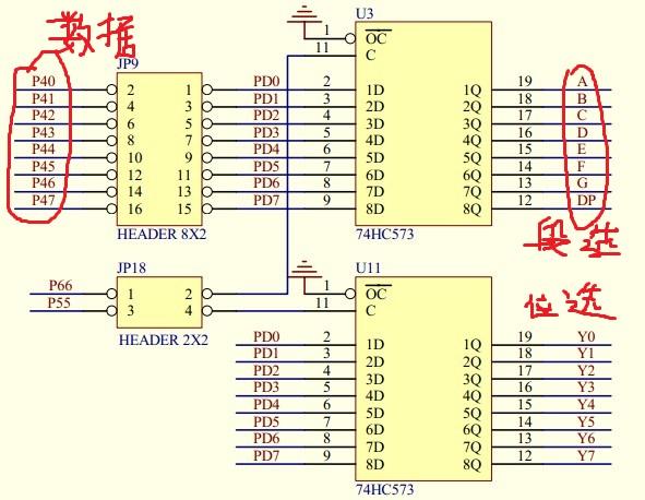 MSP430F149流水灯闪烁以及数码管的显示
