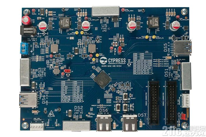 赛普拉斯推出业界首款支持 USB PD 的七端口 USB-C Hub 控制器