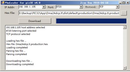 采用TCP协议的PIC32MZ ethernet bootloader