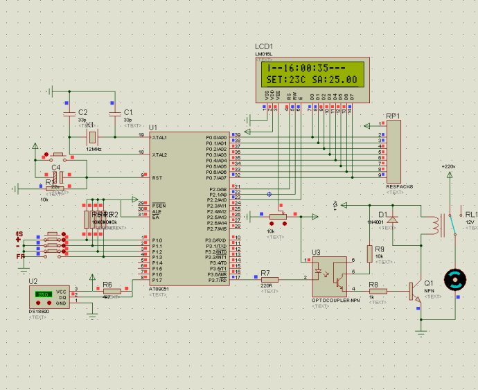51单片机智能温控器C语言源程序